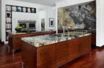 Beautiful Wood and Granite Combination